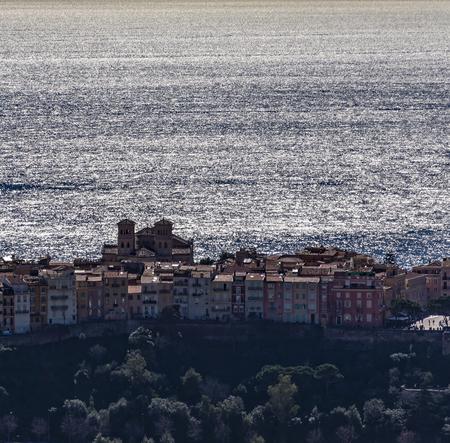 villefranche sur mer: Ville Monaco from Moyenne Corniche