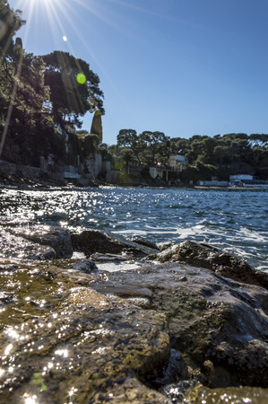 villefranche sur mer: Rocks near Paloma Beach Cap Ferrat