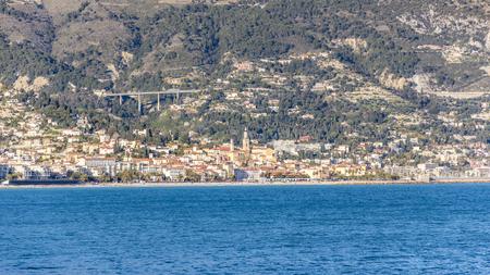 villefranche sur mer: Eze sur Mer from Cap Ferrat Stock Photo