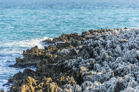 villefranche sur mer: White rocks in Cap Martin