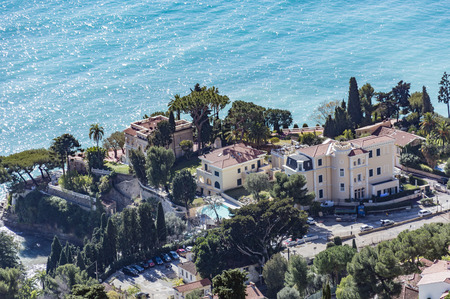 villefranche sur mer: Pointe du Cabbe from Roquebrune Village