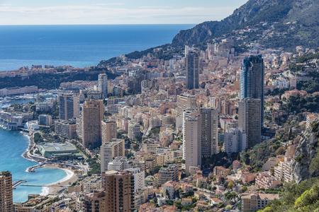 villefranche sur mer: Buldings in the Principality of Monaco Stock Photo