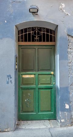 ticinese: Green door in Porta Ticinese