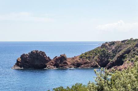 Seacoast of the Esterel Natural Park in French Riviera Archivio Fotografico