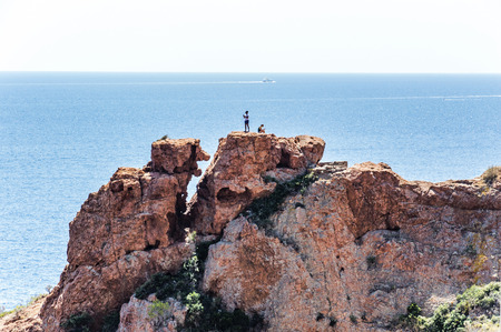 Seacoast of the Esterel Natural Park in French Riviera