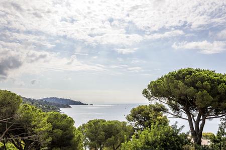 Seacoast near Le Lavandou and Bormes-les-Mimosas in French Riviera Archivio Fotografico