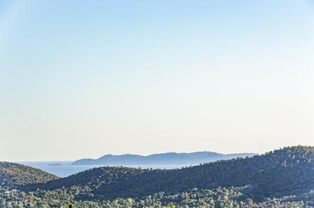 Seacoast near Le Lavandou and Bormes-les-Mimosas in French Riviera