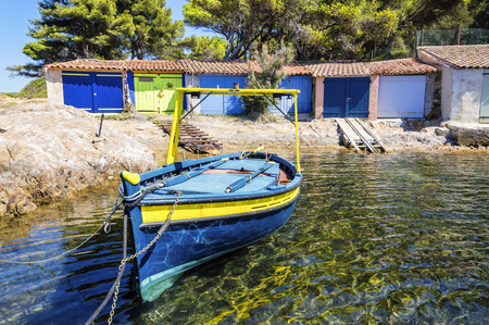Sea coast near Le Lavandou and Bormes-les-Mimosas in French Riviera