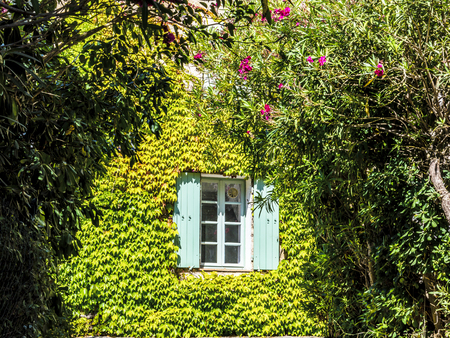 Old typical house in Provence in summer