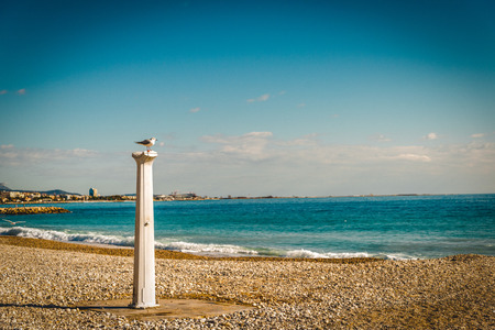 Seacoast of Cagnes-sur-Mer in a sunny winter day
