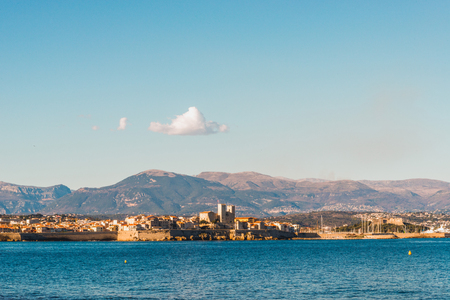 Seacoast of Antibes in a sunny winter day 写真素材