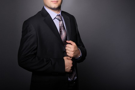 Elegant man in fashion suit. Businessman in formal wear. 版權商用圖片
