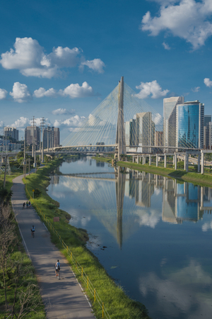 marginal: Bridge Station, Marginal Pinheiros, Business Center, Sao Paulo, Brazil