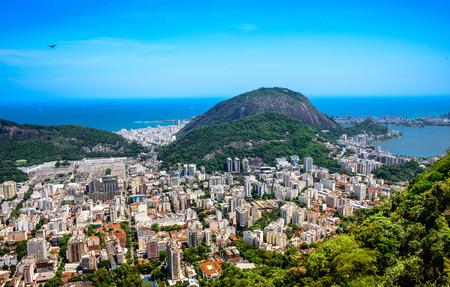 marta: View on Rodrigo de Freitas Lagoon and Zona Sul from Mirante Dona Marta at the National Park of Tijuca, Rio de Janeiro, Brazil