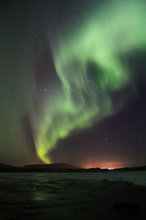 polar light: Aurora Foto de archivo