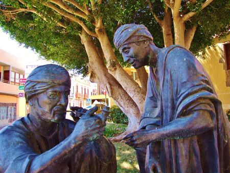 Arab sculptures in Aguimes, Grand Canary