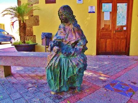 Princess Masequeras sculpture in Aguimes Foto de archivo