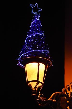 Christmas streetlight in La Laguna, Tenerife
