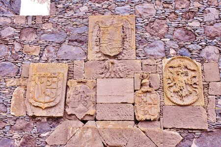 Stone shields in Garachico, Tenerife