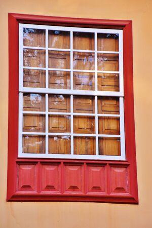 Old window in La Laguna, Tenerife Foto de archivo