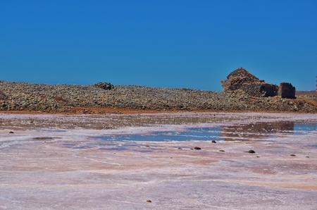 Abandoned salina in Gran Canary Foto de archivo