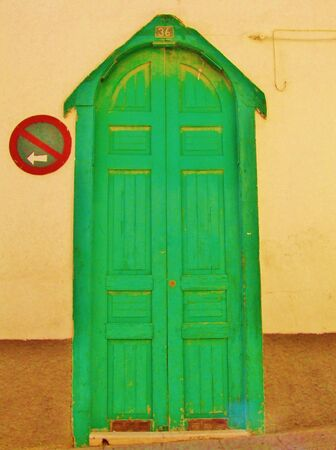 Old green door in Aguimes, Grand Canary
