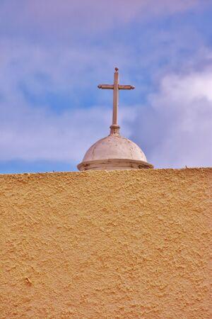Croos and dome in a cemetery in Las Palmas de Gran Canaria