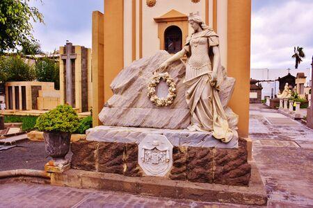 Italian tomb in the cemetery of Vegueta, Las Palmas de Gran Canaria. January, 2018