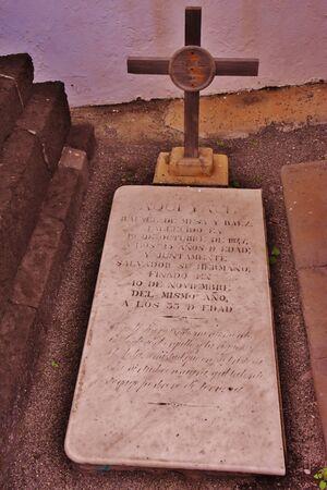 Ancient tomb in the cemetery of Vegueta, Las Palmas de Gran Canaria. January 2018