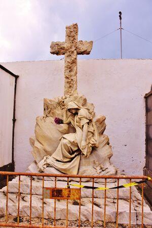 Artistic tomb in cemetery of Vegueta in Las Palmas de Gran Canaria. January 2018 Editorial