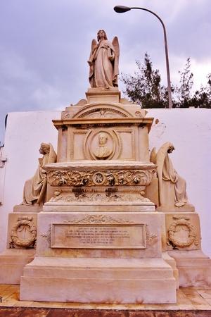 Tomb in cemetery of Vegueta in Las Palmas de Gran Canaria. January, 2018