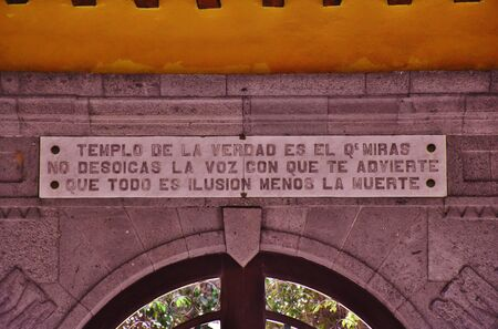 Poem about death in Cemetery of Vegueta, Las Palmas de Gran Canaria. January, 2018