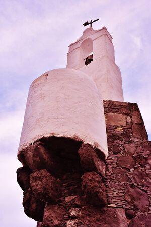 Bell gable in Castle of San Miguel, Garachico, Tenerife. December, 2017 Editorial