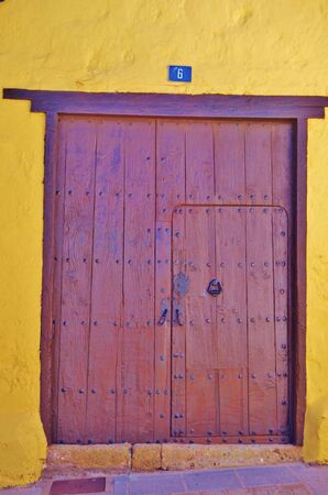 Old door in Aguimes, Grand Canary. October 2017
