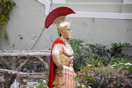 Roman figure in a nativity scene in La Orotava, Tenerife. December 2017