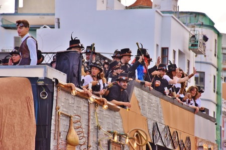 Carnaval de Las Palmas de Gran Canaria. Febrero 2018 Foto de archivo - 98328395