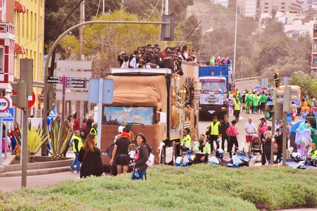 Carnaval de Las Palmas de Gran Canaria. Febrero 2018 Foto de archivo - 98328399