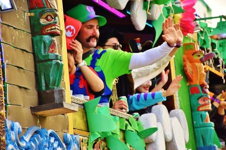 Carnaval de Las Palmas de Gran Canaria. Febrero 2018 Foto de archivo - 98328434