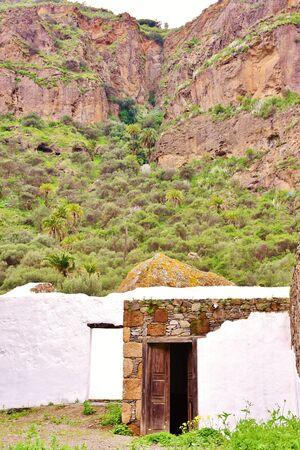 House in Caldera of Bandama, Grand Canary Stock Photo