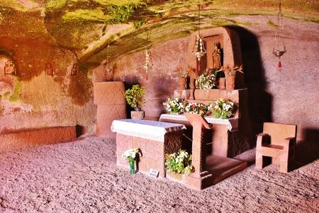 Virgin of the Cuevita Sanctuary, Artenara, Grand Canary. February 2018 Editorial