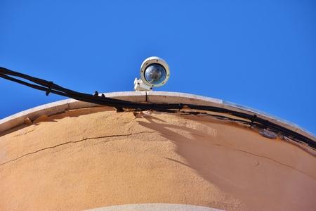 CCTV Camera closeup photo