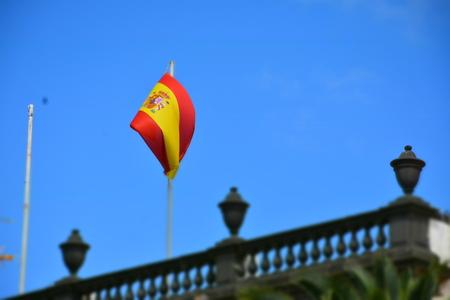 Spanish flag with tilt shift effect