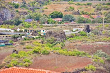 Erratic blocks of the Angostura Volcano, Grand Canary Foto de archivo