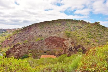 Mount Lentiscal Volcano in Grand Canary Foto de archivo