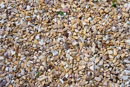 Detail, texture of pebble covering the ground Foto de archivo