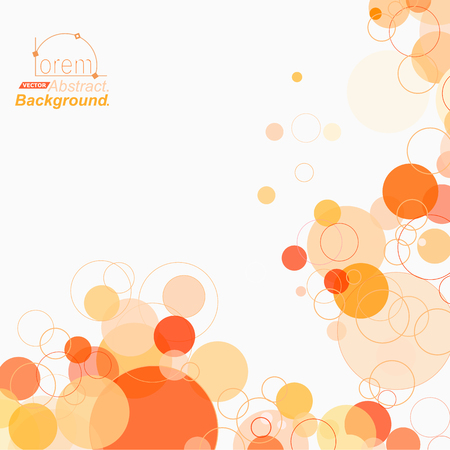 air bubble: Abstract composition. Minimalistic fashion backdrop design. Orange circle part icon. Air bubble font texture. Modern ad banner form. Round text frame fiber. Soap bulb banner ornament. Stock vector art