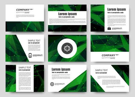 charter: Abstract composition, business card set, correspondence letter collection, brochure title sheet, certificate, diploma, patent, charter, figure frame surface