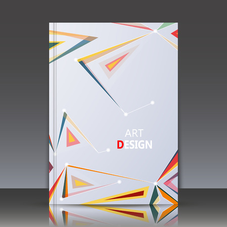 Abstract composition, a4 brochure title sheet, geometric shape, line ornament, triangle connecting, logo construction backdrop, business card texture surface, fashionable fiber texture, vector