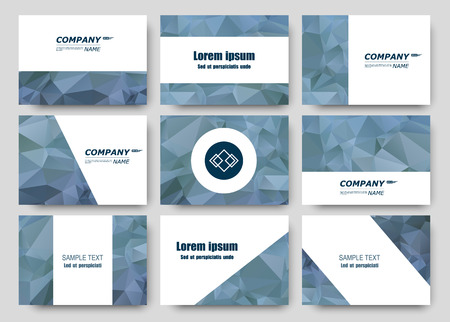charter: Abstract composition, business card set, correspondence letter collection, brochure title sheet, certificate, diploma, patent, charter, figure frame surface, polygonal diamond backdrop vector