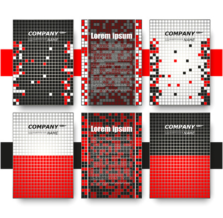 charter: Abstract composition, business card set, correspondence letter collection, brochure title sheet, certificate, diploma, patent, charter, figure frame surface, mosaic backdrop